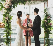 NEw York City and New Jersey copper chuppah for rent